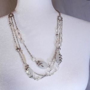 Art Deco Style Single/Triple Strand Necklace